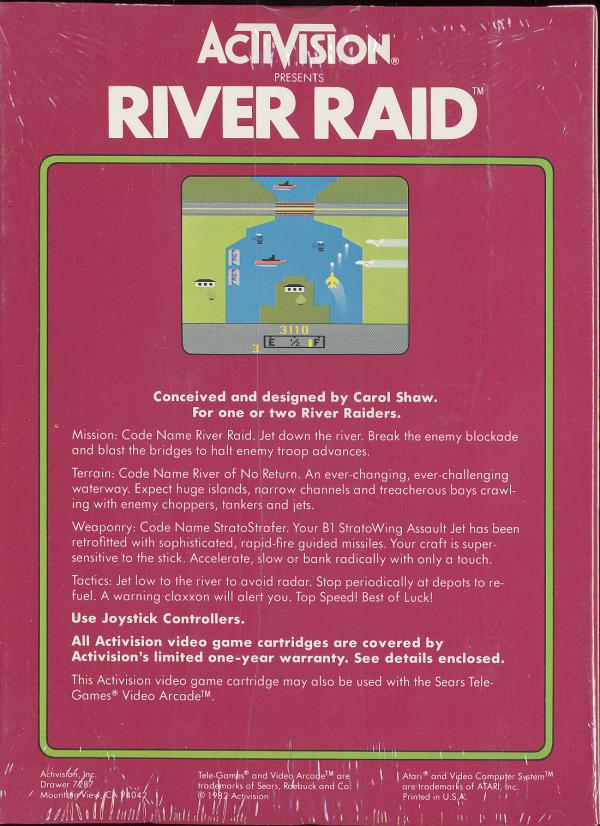 River Raid - Box Back