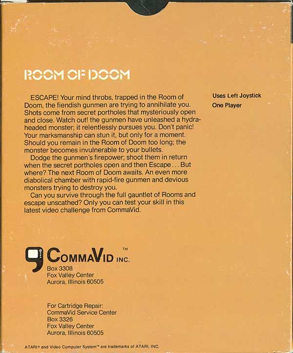 Room of Doom - Box Back