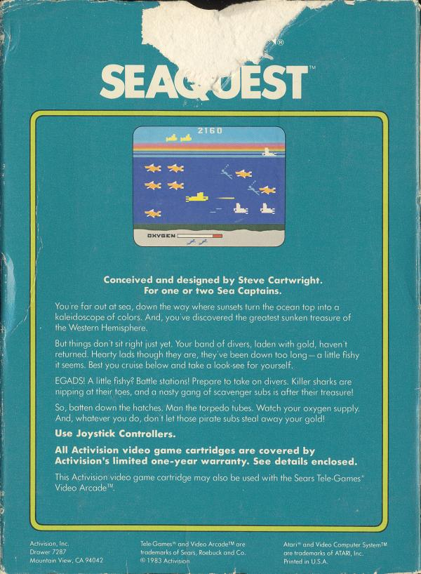 Seaquest - Box Back