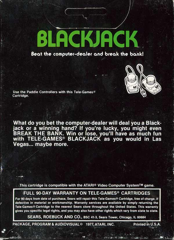 Blackjack - Box Back