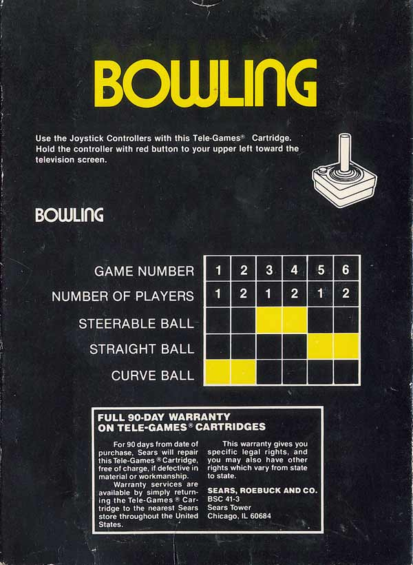 Bowling - Box Back