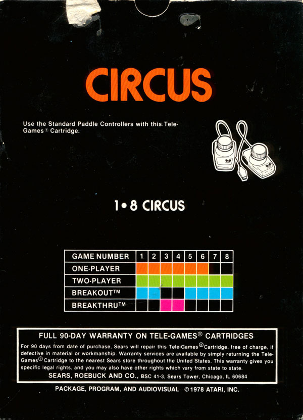 Circus - Box Back