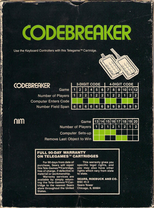 Codebreaker - Box Back