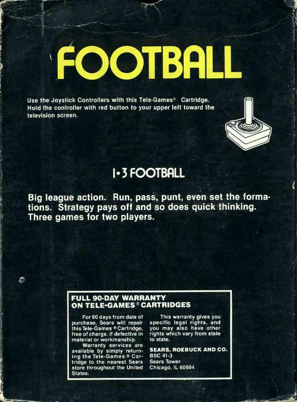Football - Box Back