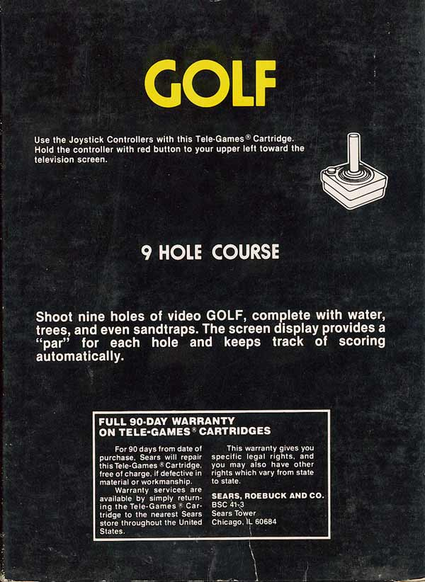 Golf - Box Back