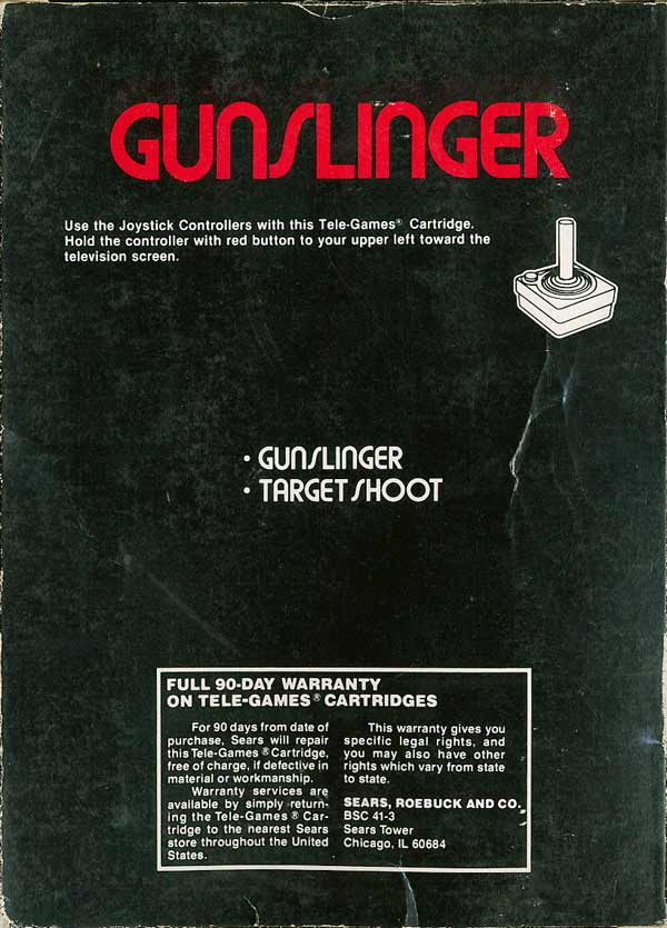 Gunslinger - Box Back
