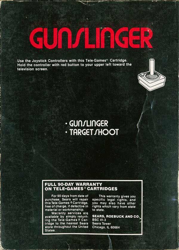 Gunslinger - Box Back