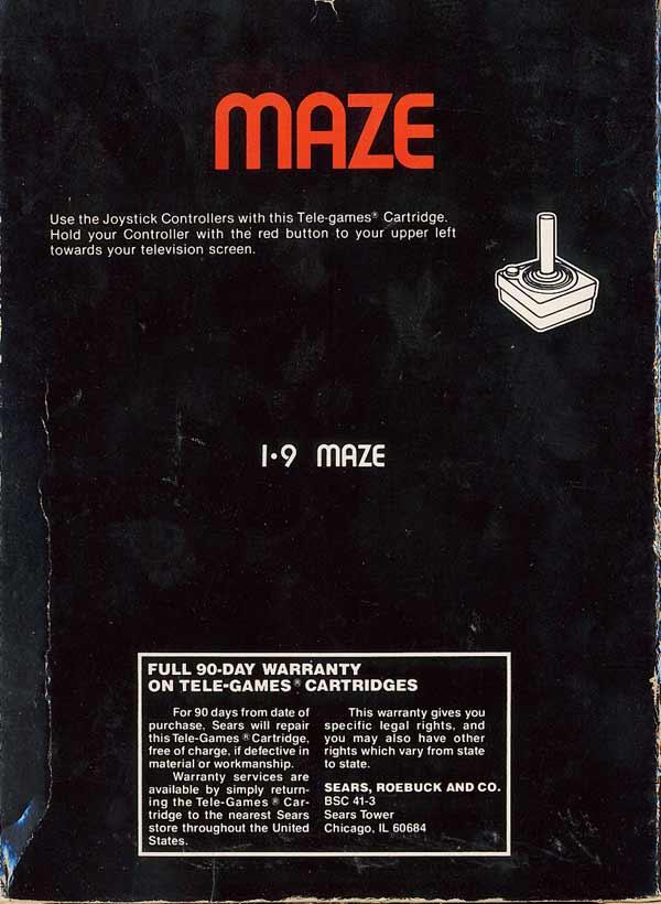 Maze - Box Back