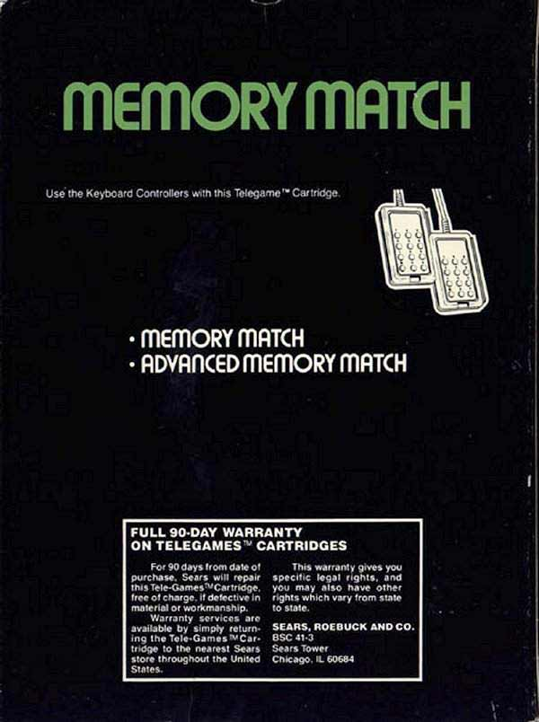 Memory Match - Box Back