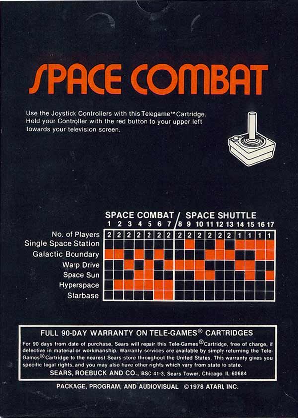 Space Combat - Box Back