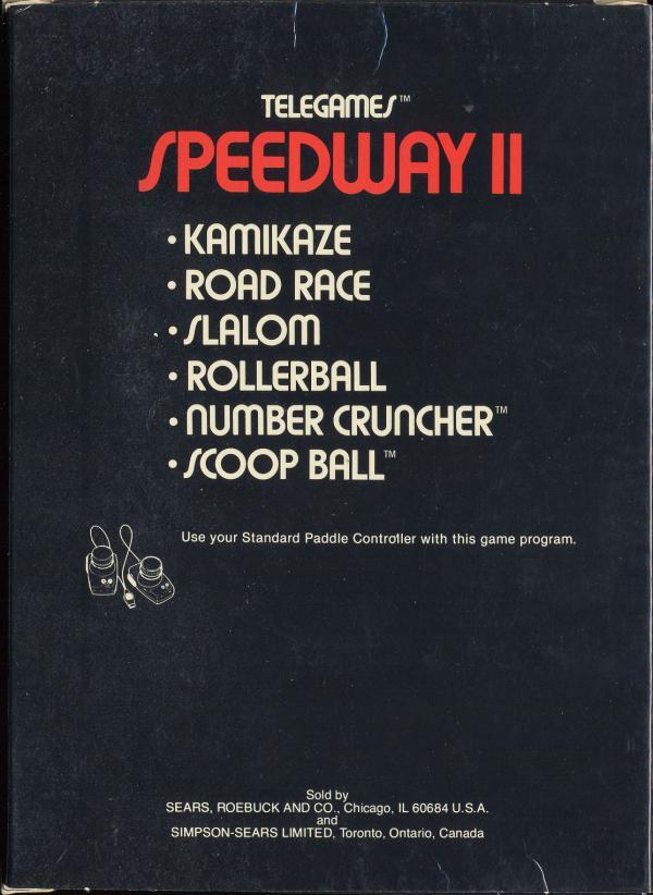 Speedway II - Box Back