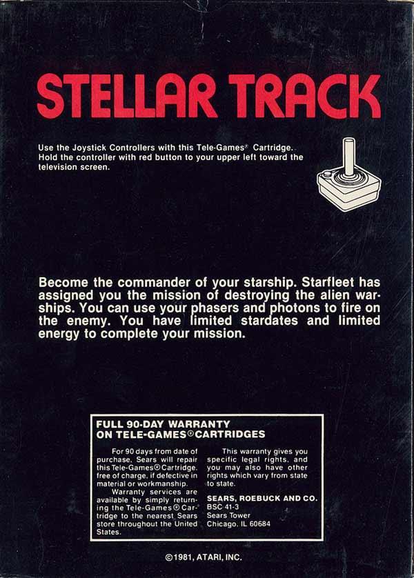Stellar Track - Box Back