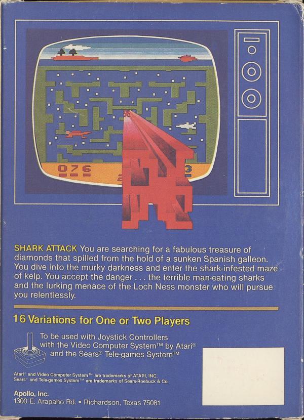 Shark Attack - Box Back
