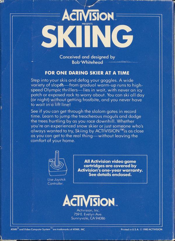 Skiing - Box Back