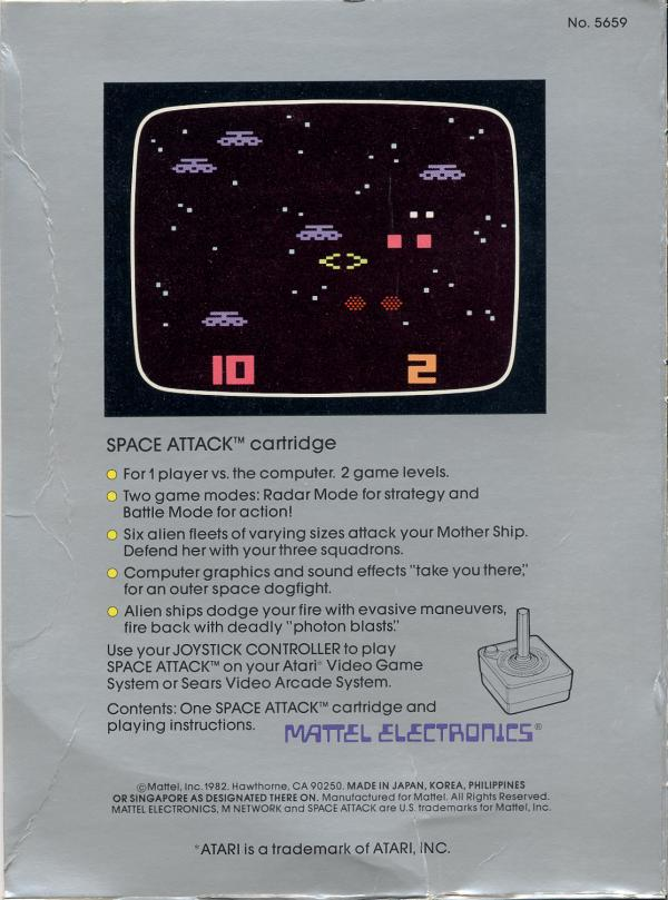 Space Attack - Box Back