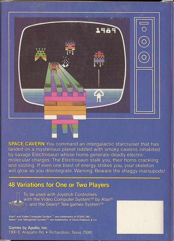 Space Cavern - Box Back