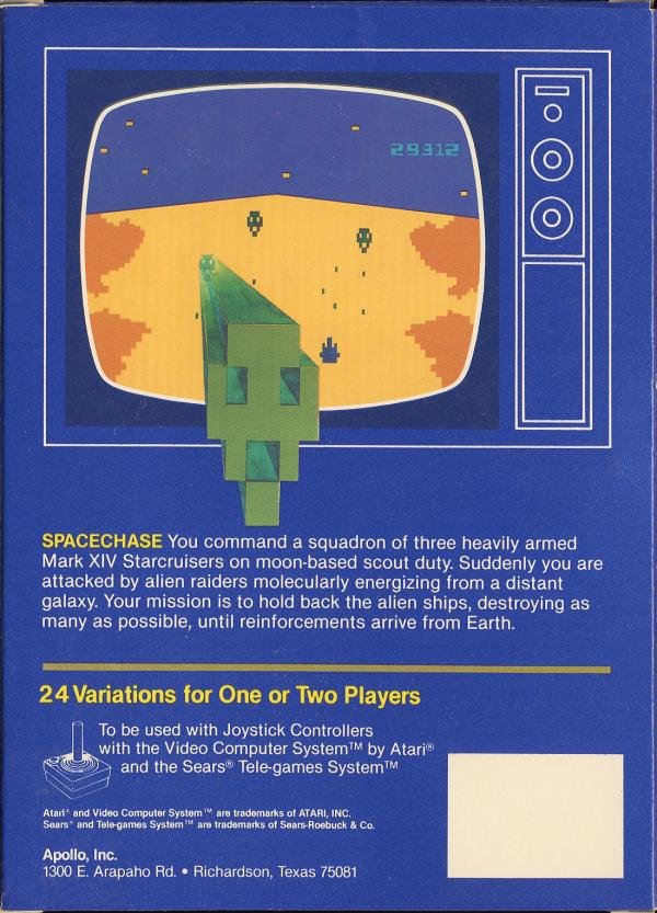 Spacechase - Box Back
