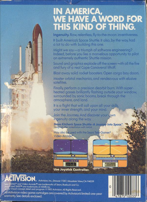 Space Shuttle - Box Back