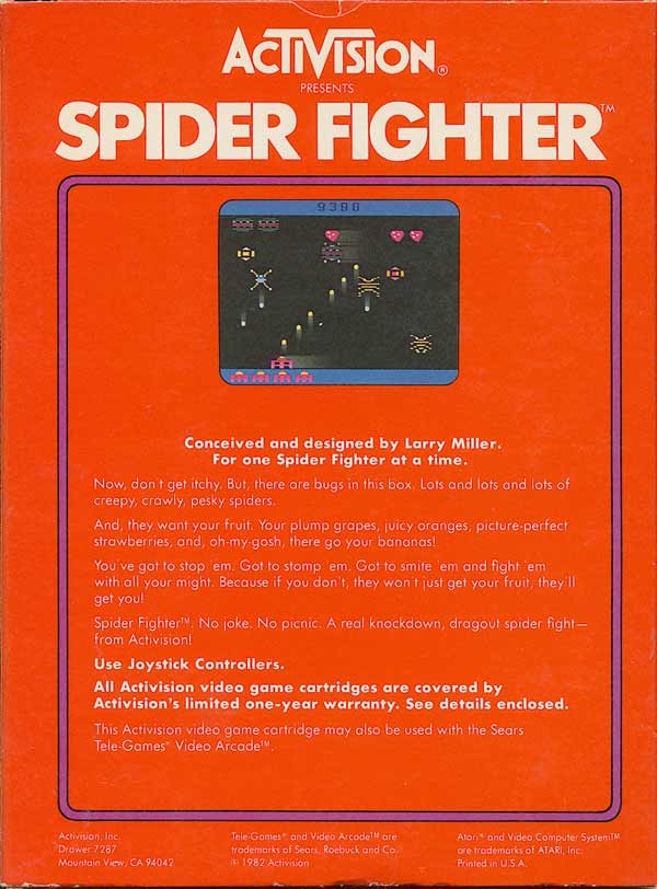 Spider Fighter - Box Back
