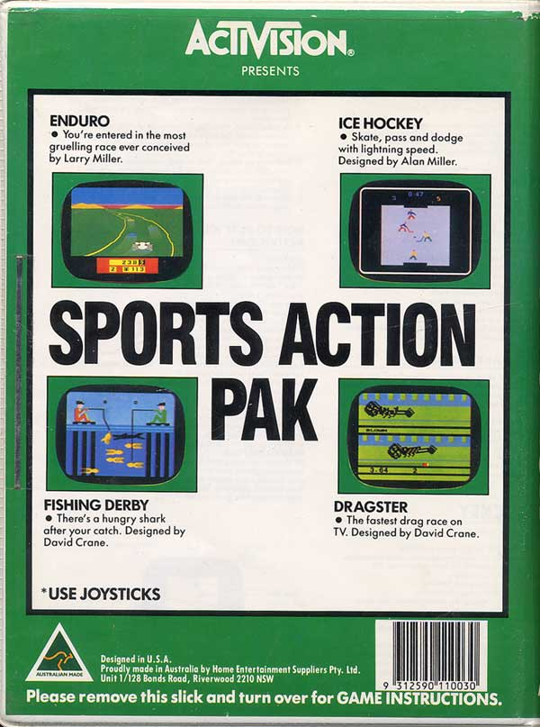 Sports Action Pak - Box Back