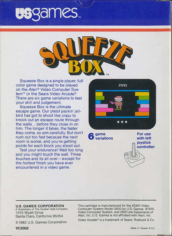 Squeeze Box - Box Back