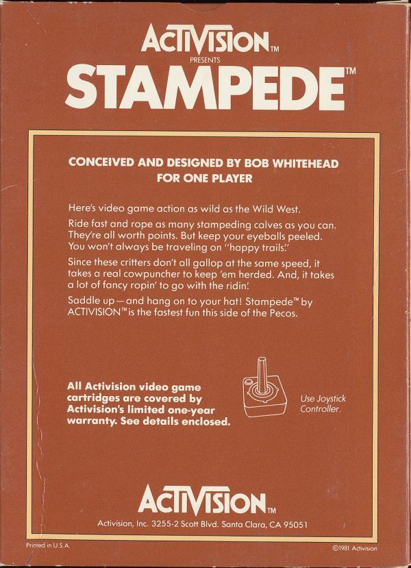 Stampede - Box Back
