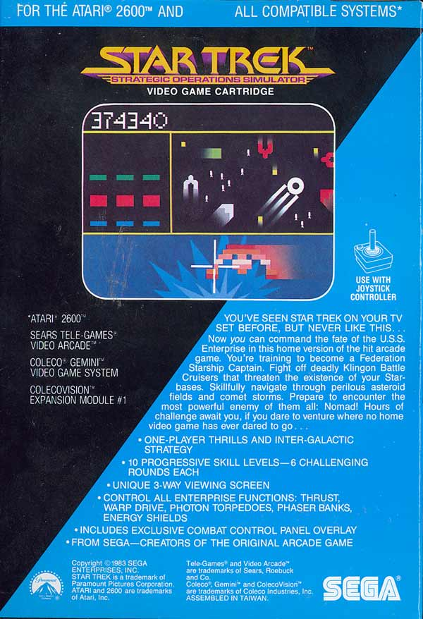 Star Trek: Strategic Operations Simulator - Box Back