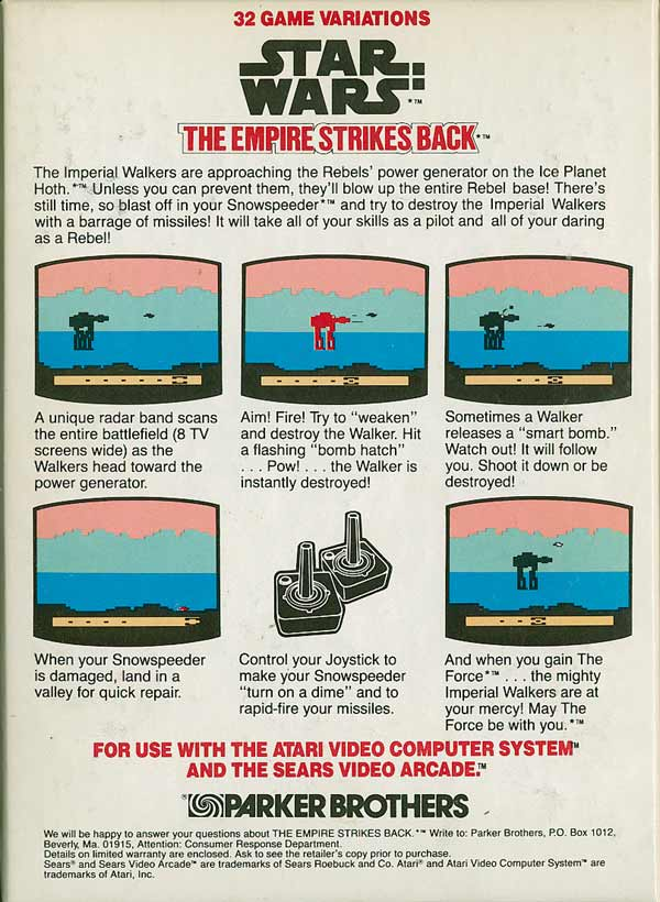 Star Wars: The Empire Strikes Back - Box Back