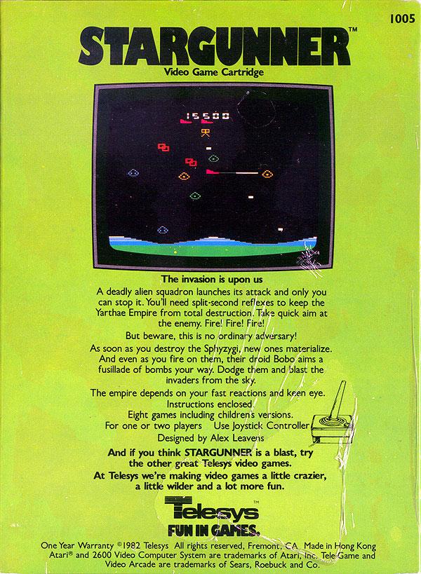 Stargunner - Box Back