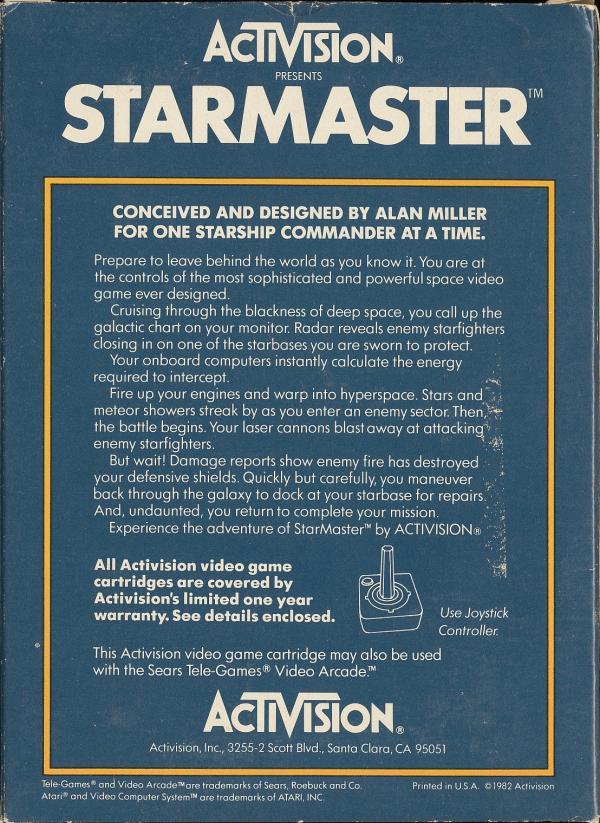 Starmaster - Box Back