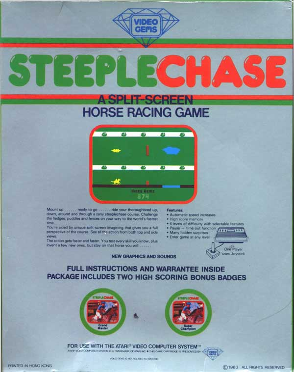 Steeple Chase - Box Back