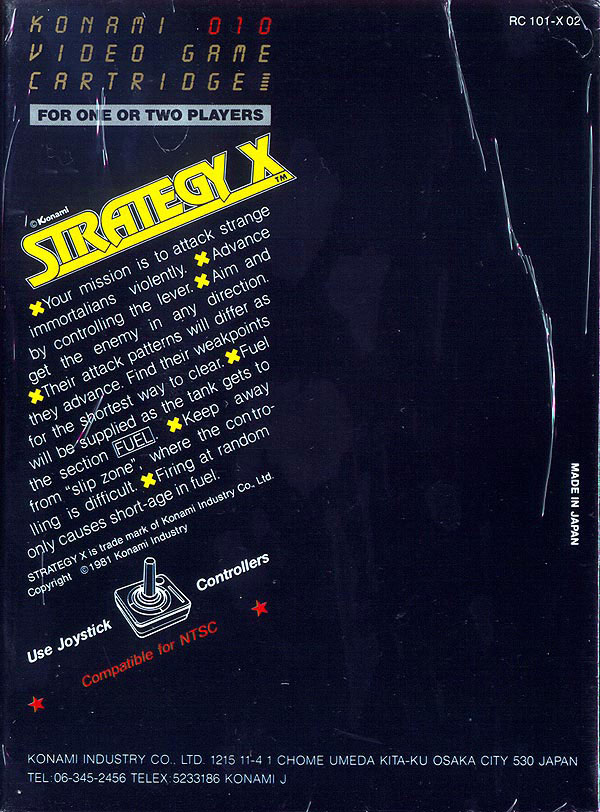 Strategy X - Box Back