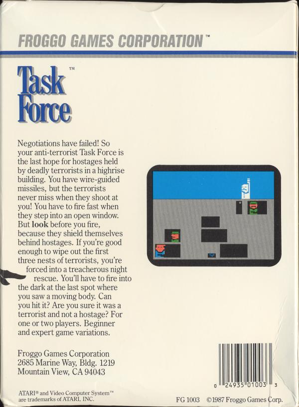 Task Force - Box Back