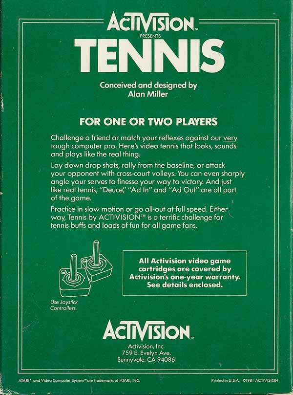 Tennis - Box Back