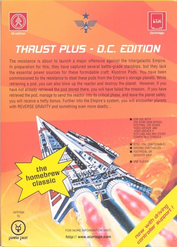 Thrust+ Platinum - Box Back