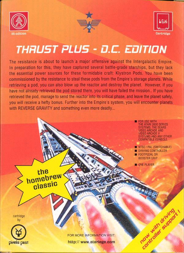 Thrust+ DC Edition - Box Back