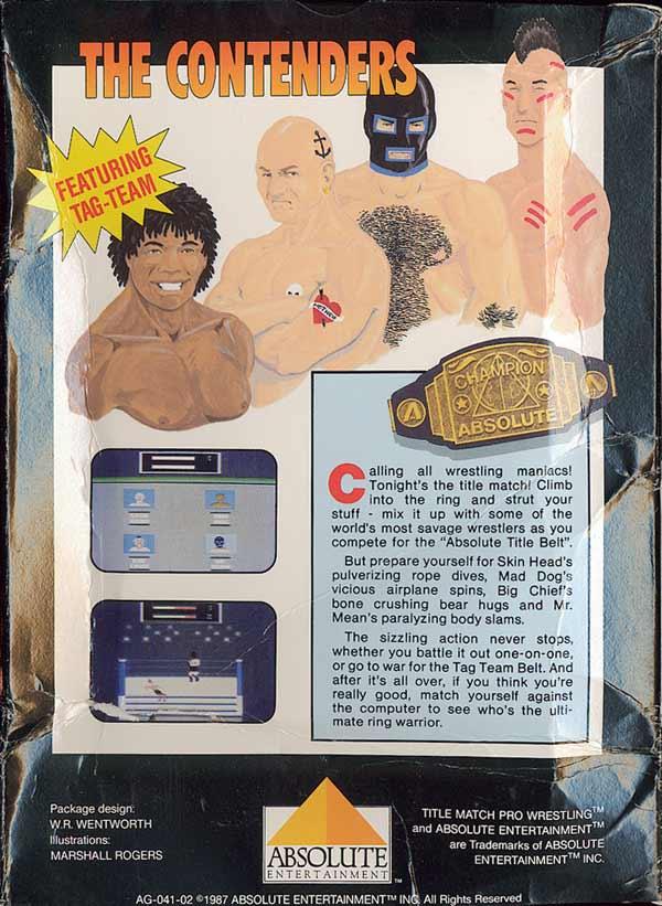 Title Match Pro Wrestling - Box Back