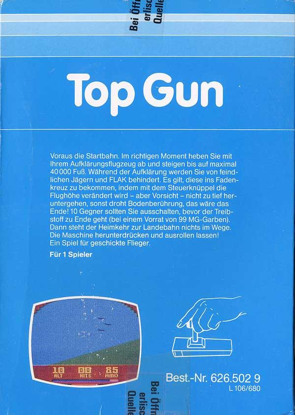 Top Gun - Box Back