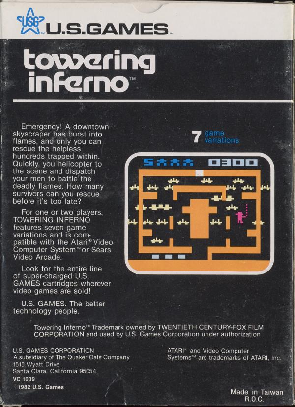 Towering Inferno - Box Back