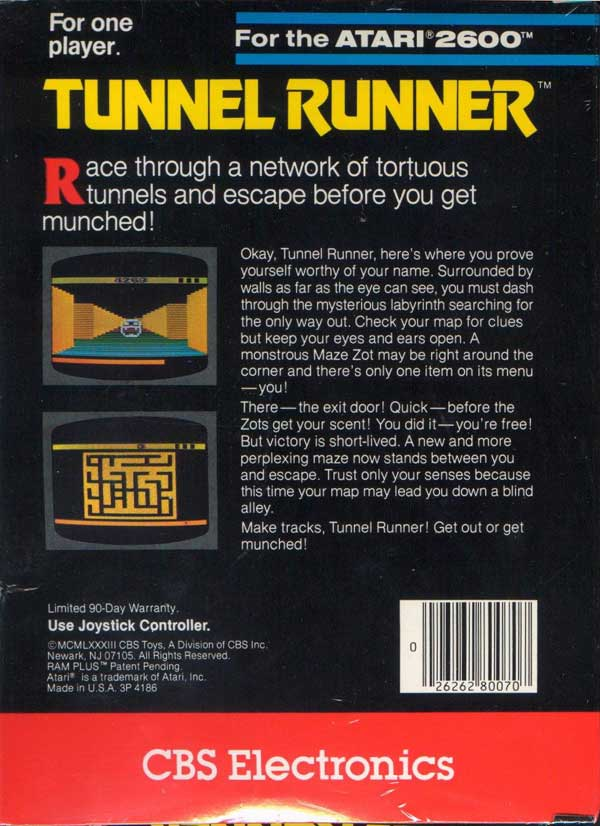 Tunnel Runner - Box Back