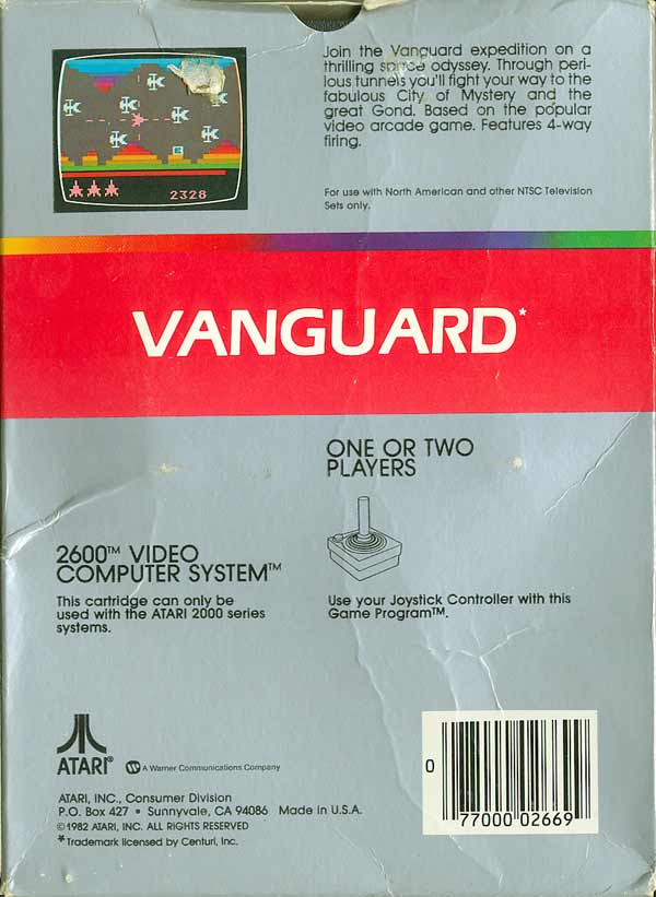 Vanguard - Box Back
