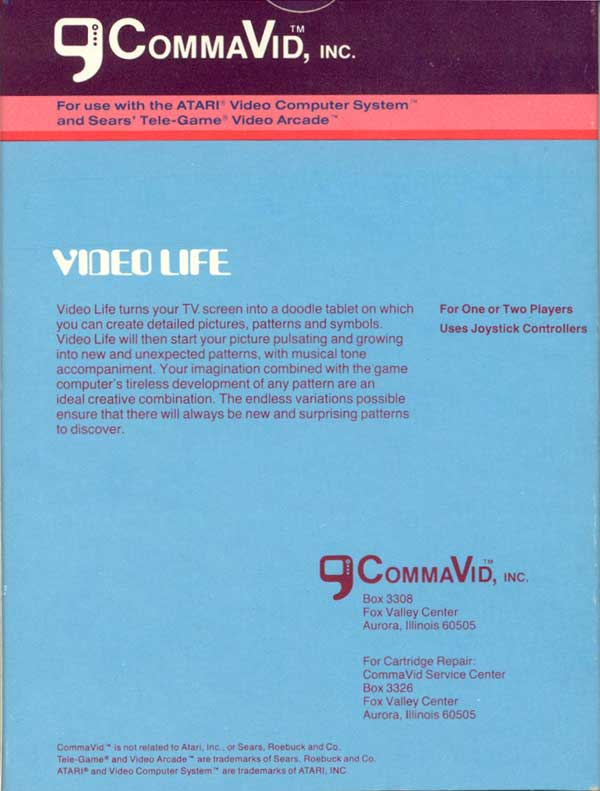 Video Life - Box Back