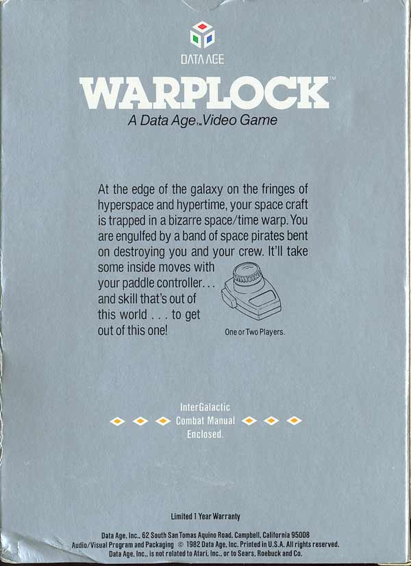 Warplock - Box Back