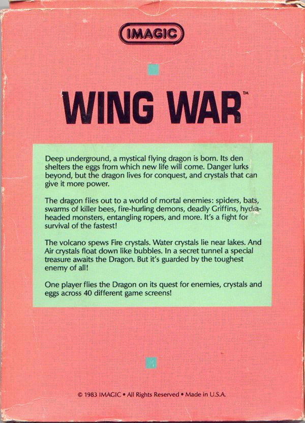 Wing War - Box Back