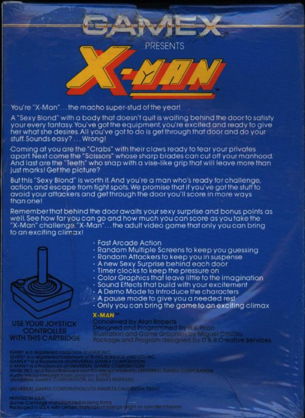 X-Man - Box Back