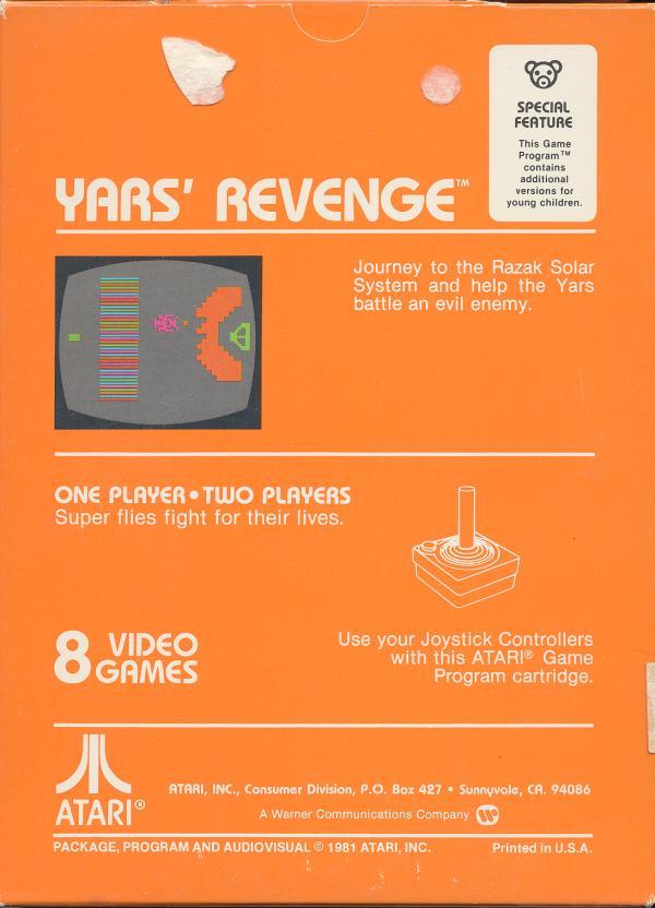 Yars' Revenge - Box Back
