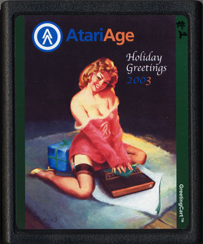 2003 AtariAge Holiday Cart - Cartridge Scan