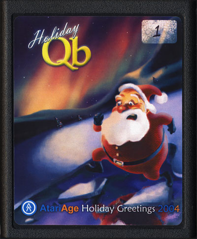 2004 AtariAge Holiday Cart: Holiday Qb - Cartridge Scan