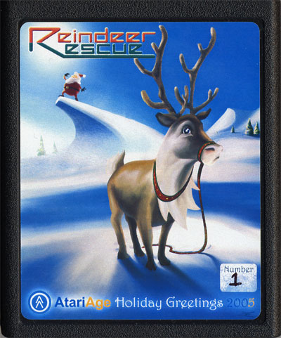 2005 AtariAge Holiday Cart: Reindeer Rescue - Cartridge Scan