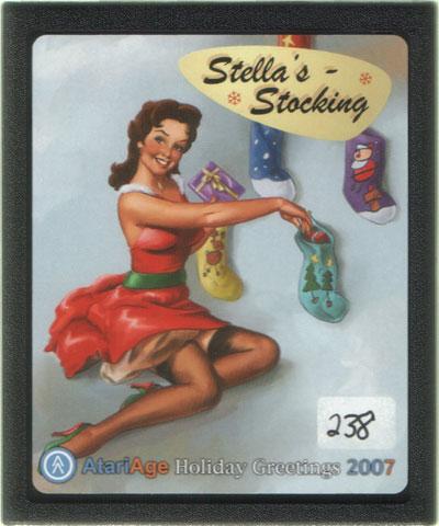2007 AtariAge Holiday Cart: Stella's Stocking - Cartridge Scan